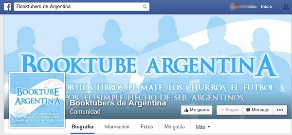 Booktubers de Argentina en Facebook.