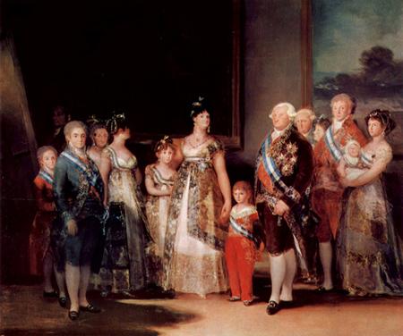 cuadro La familia de Carlos IV, de Francisco de Goya y Lucientes.