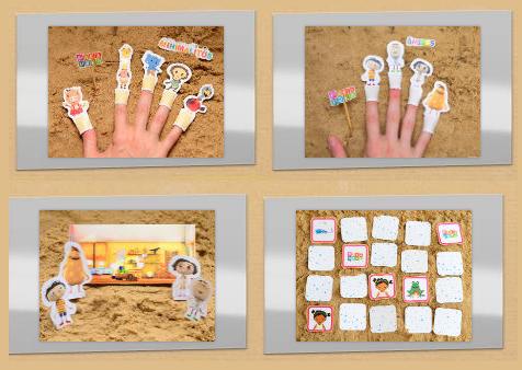 Modelos de juegos y juguetes en papel de Pakapaka