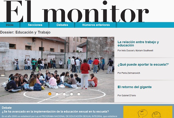 Revista El Monitor de la Educación en formato digital