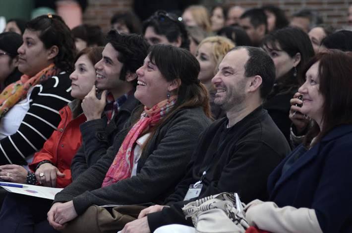 Docentes escuchan Protagonistas en San Miguel
