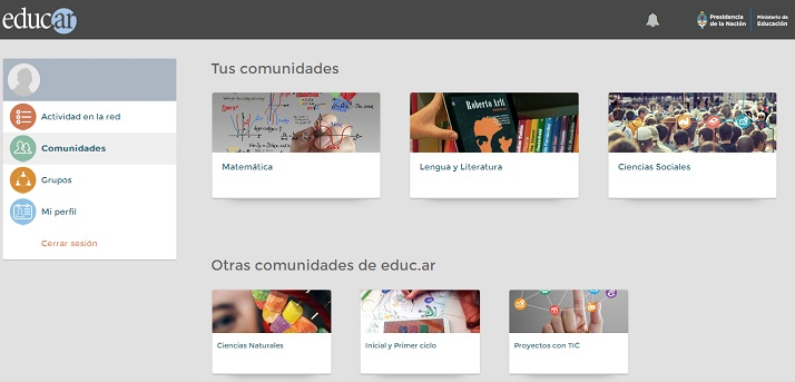 enred, la red social educativa del portal educ.ar
