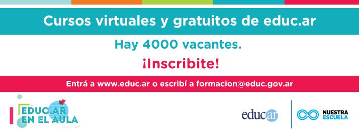 Cursos virtuales y gratuitos de educ.ar 2015