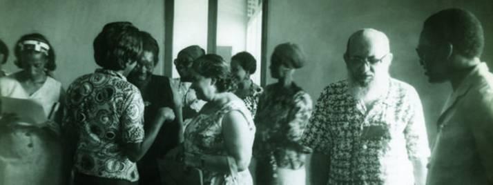 Paulo Freire Primer Seminario Nacional de Alfabetización de Santo Tomé y Príncipe, Brasil, 1976.